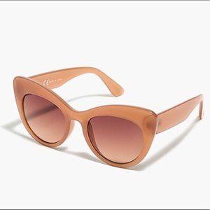 NWT J. Crew Milky Desert Sunglasses w/ Clothcase